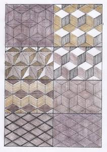 Mosaique-frisage-de-cubes