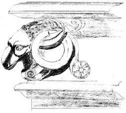 Tête de bélier-ornement