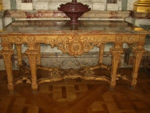 Table d'apparat louis XIV