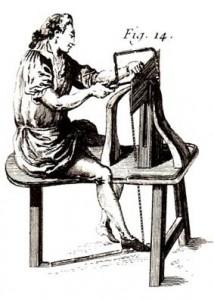 chevalet de marqueteur (dessin du Roubo)