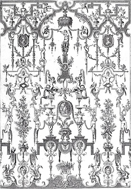 dessin d'ornement de Bérain