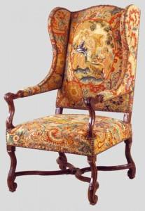 fauteuil à oreilles de style Louis XIV