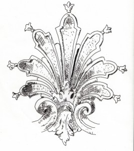 palmette de style Louis XVI