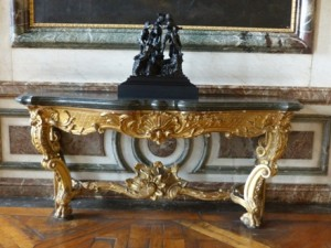 Table console en applique